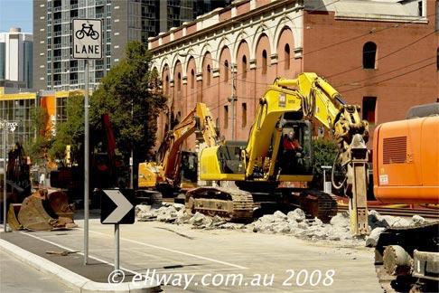 Len Weigh 2008, Swanston Street tram works
