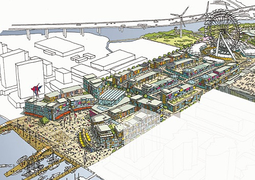 Waterfront City sketch BDP / Hassell
