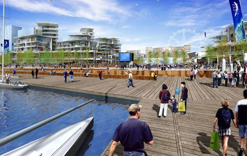 Waterfront City render BDP / Hassell