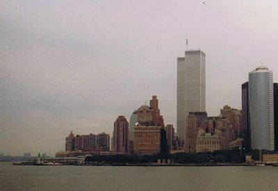 WTC from Staten Island ferry, 1989