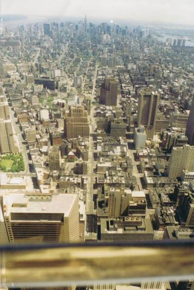 WTC - view from observation deck, 1989