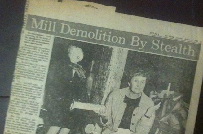 Brown's Mill demolition
