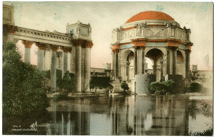 Postcard - Maybeck Palace - Uni Berkeley collection