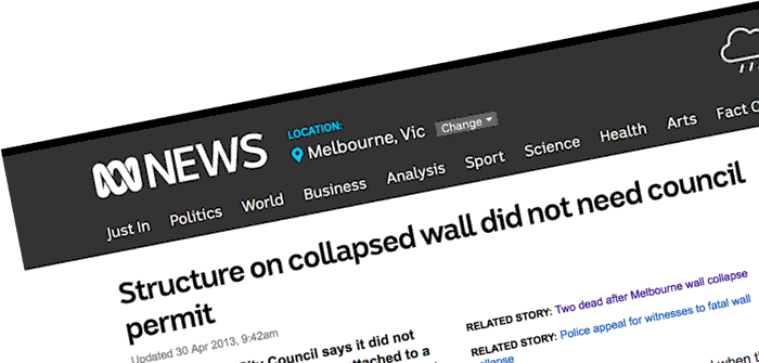ABC Swanston st wall