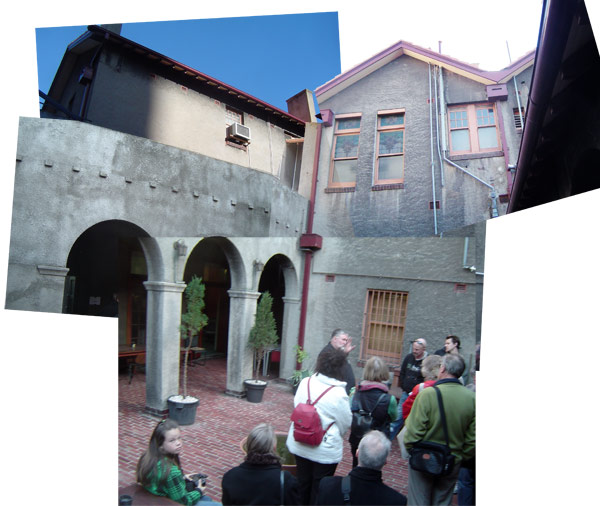 Mission to seafarers courtyard