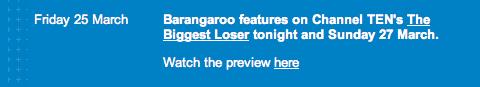 Barangaroo biggest loser