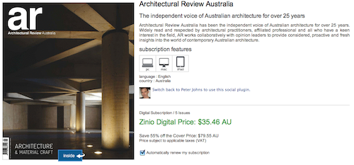 Architectural Review Australia